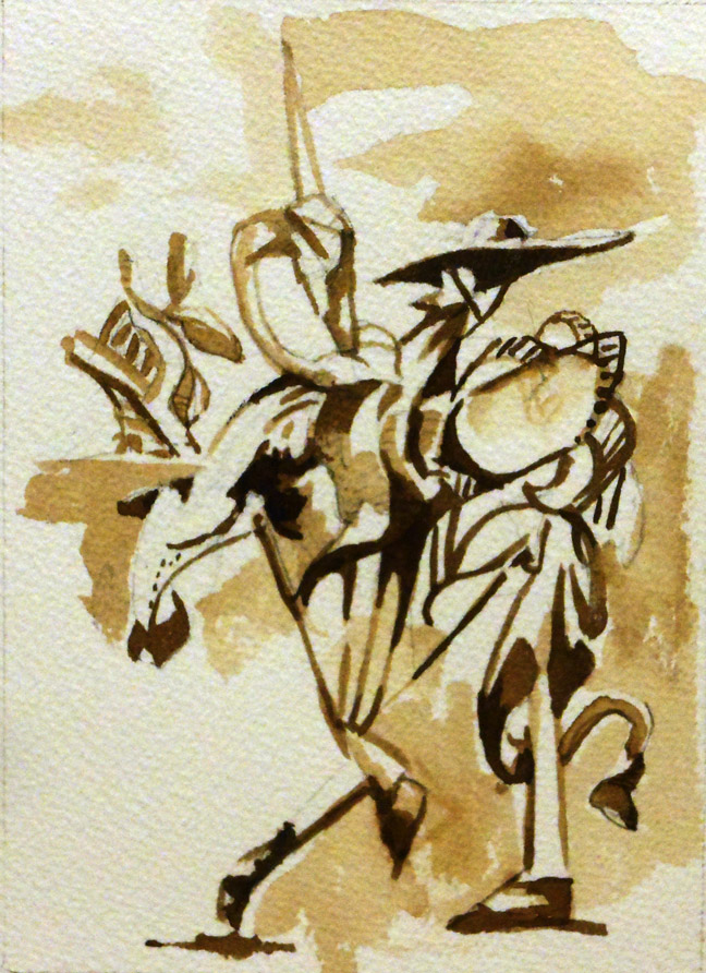 After the misadventure with the windmills, Don Quixote