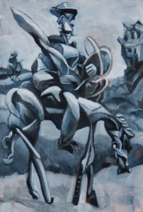 "Don Quixote in Black & White #1 2012, 18""x 14"""