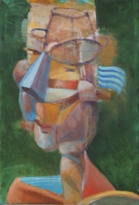Cubist portrait of a man