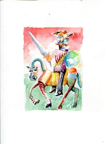 """What's Done Is Done  2014 watercolor on paper 7""""x 5"""""""