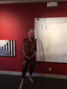 """Rosemary Broton Boyle in front of """"Creme"""""""