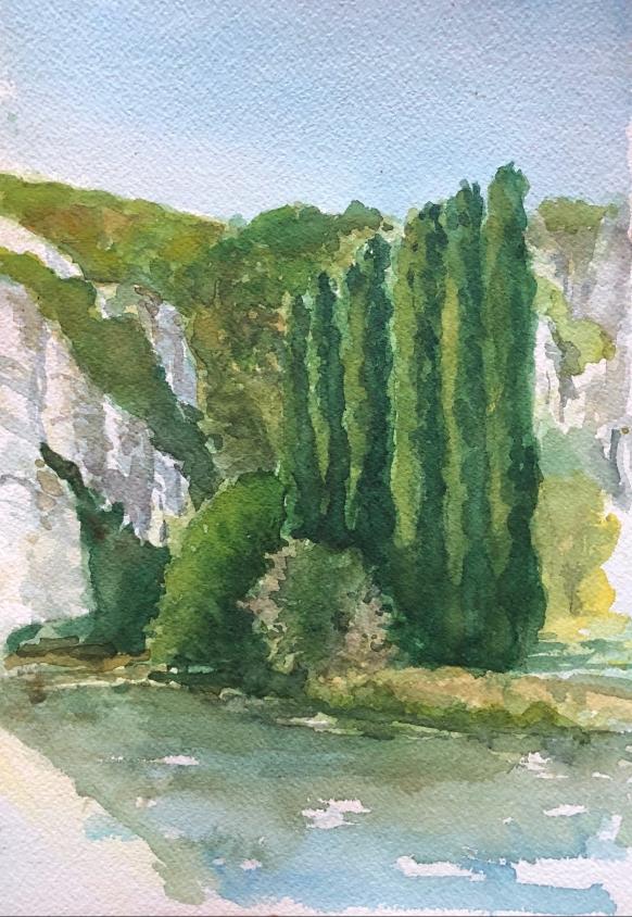 Along The Lot River, France