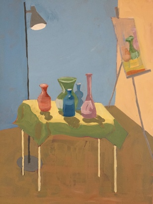 Stilllife with glass containers